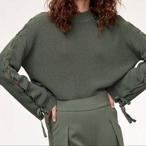 Aritzia Wilfred Salome Sweater Tied